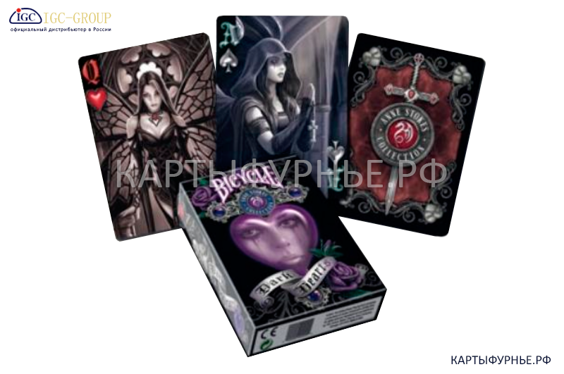 Карты игральные Bicycle-Anne-Stokes-Dark-Hearts-Deck